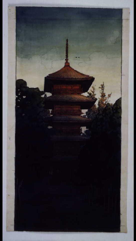作品画像:池上本門寺の塔 原画