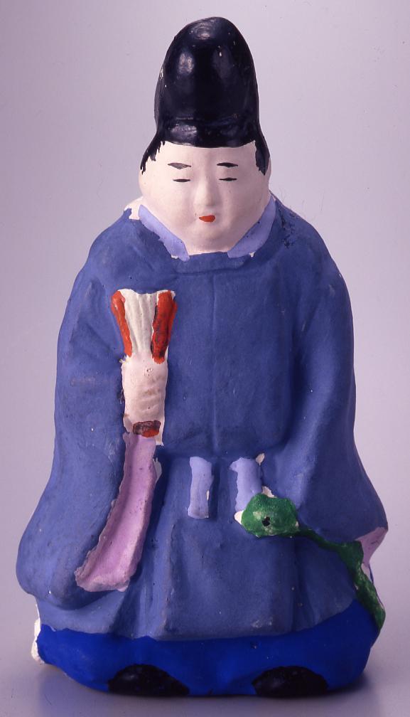作品画像:今戸人形 平重盛(巳年)