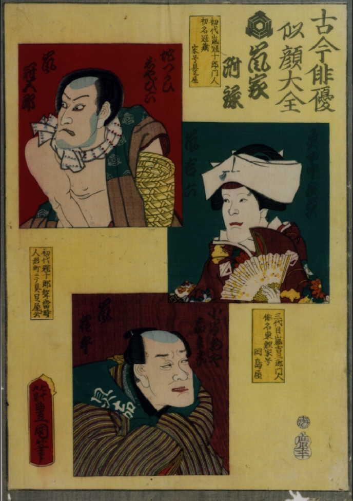作品画像:古今俳優似顔大全 嵐家附禄