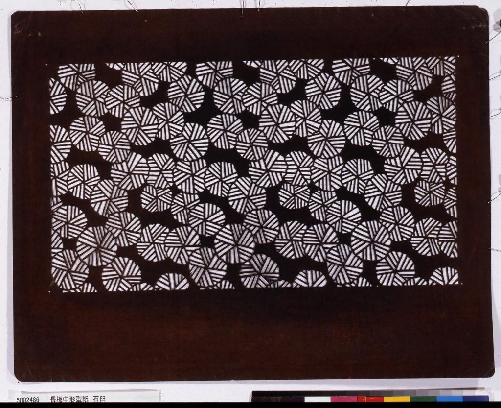作品画像:長板中形型紙 石臼