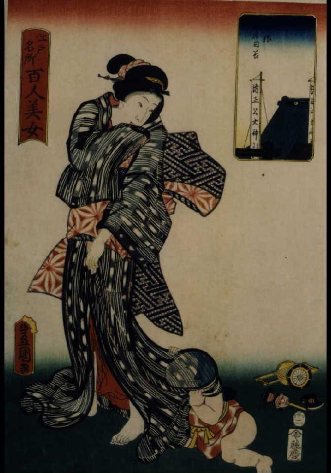 作品画像:江戸名所百人美女 白銀樹目谷