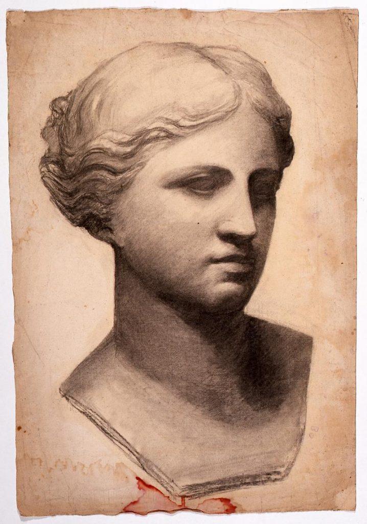 作品画像:素描 石膏像(ヴィーナス)