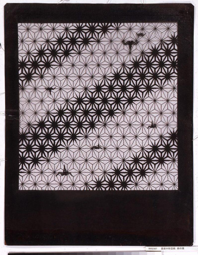 長板中形型紙 麻の葉