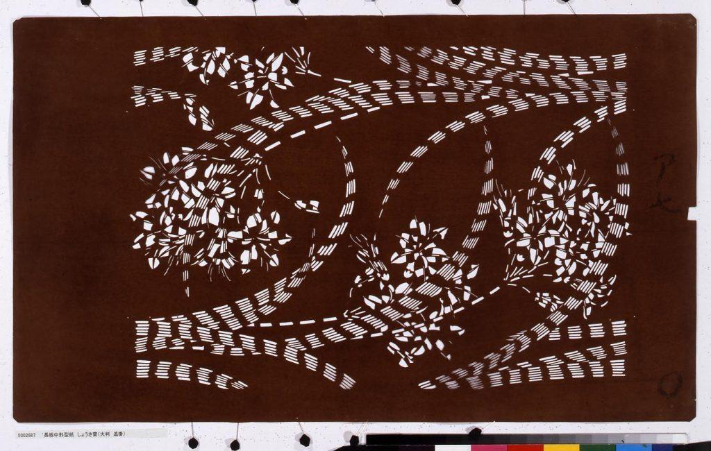 作品画像:長板中形型紙 しょうき蘭(大判 追掛)