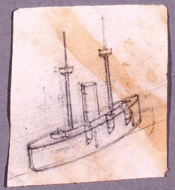 作品画像:下絵 艦船図