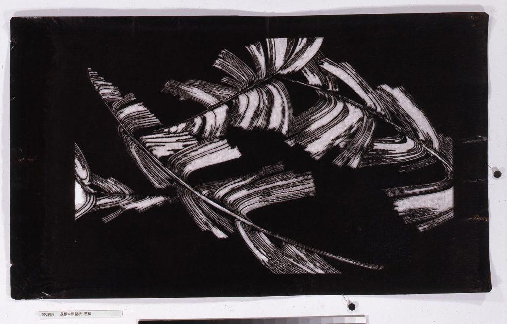作品画像:長板中形型紙 芭蕉