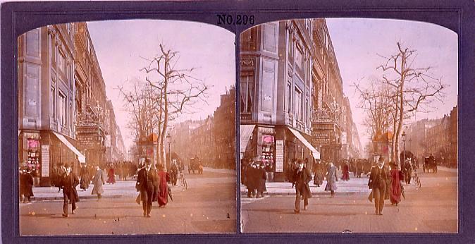 作品画像:パリ、大並木通(グランブールバール)(No.296)