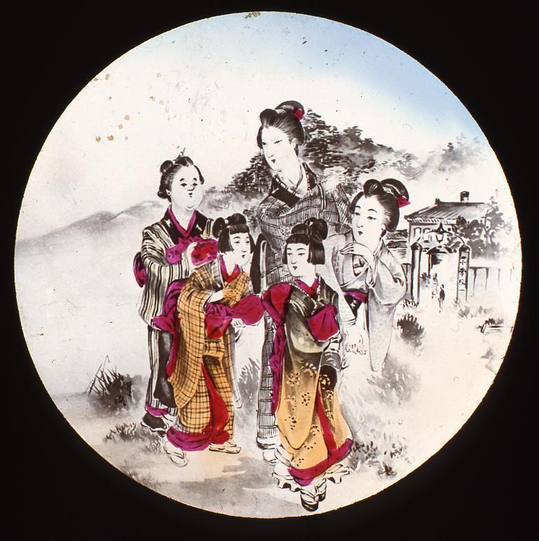 作品画像:幻灯種板 女子教育