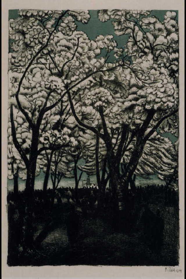 作品画像:東京風景 十八 上野之桜