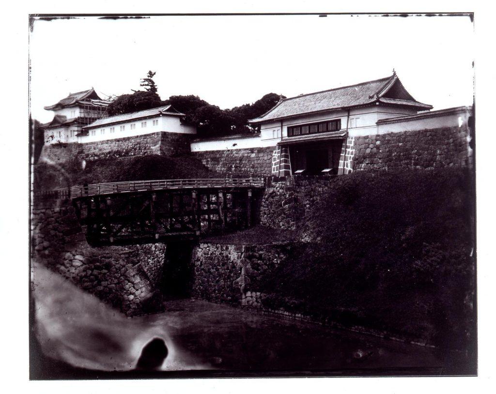 作品画像:旧江戸城写真ガラス原板  西ノ丸書院門