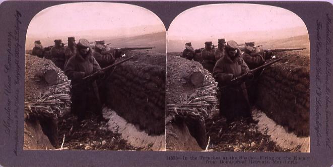 作品画像:In the TrenchesAt the Sha-ho―Firing on the Enemy from Bomb-proof Retreats,Manchuria.14523