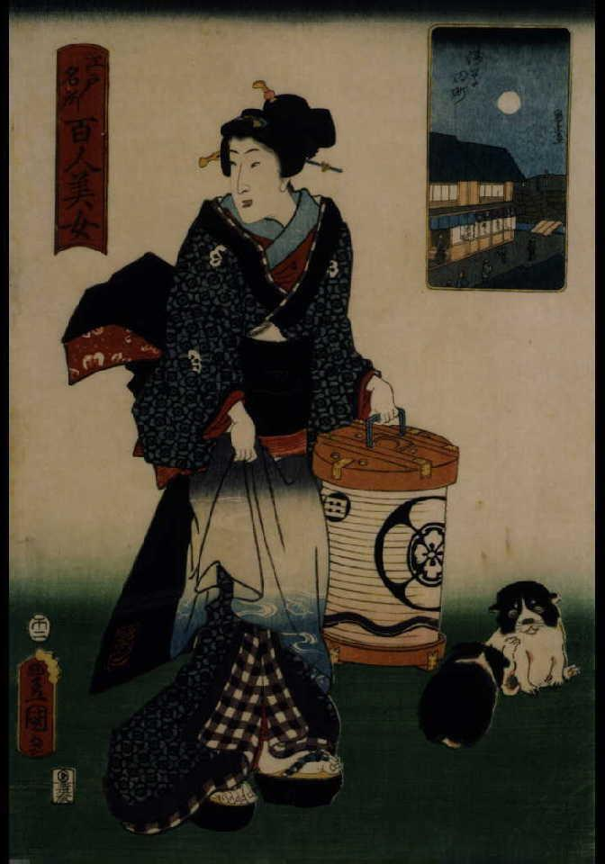 作品画像:江戸名所百人美女 浅草田町