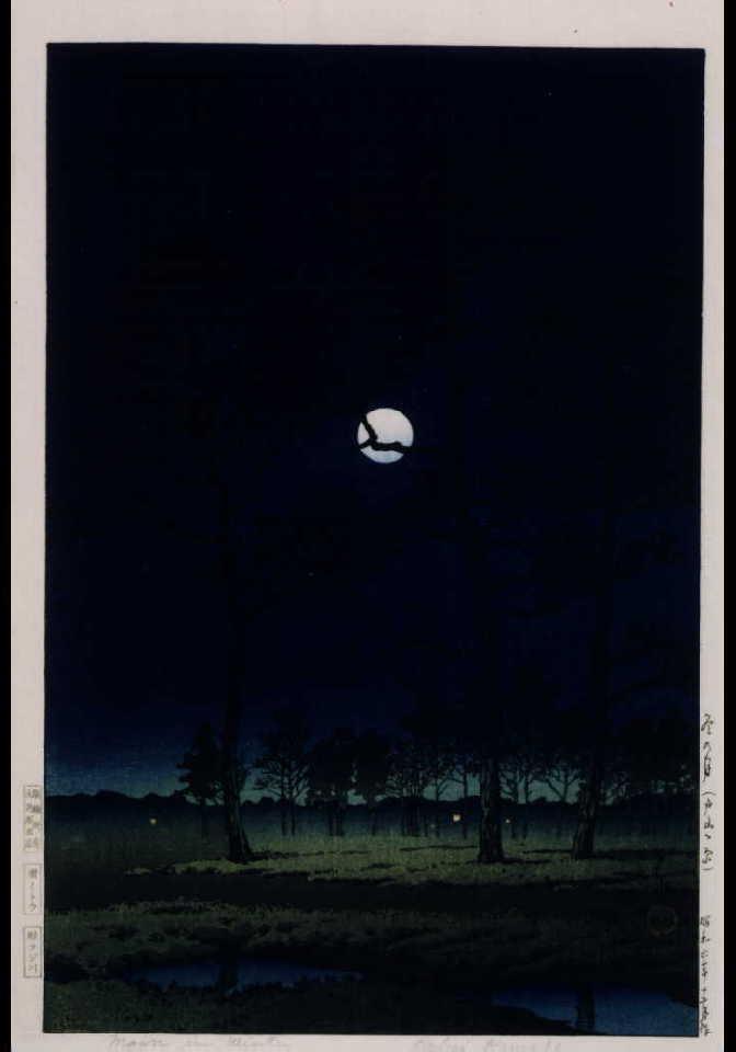 作品画像:冬の月(戸山ケ原)
