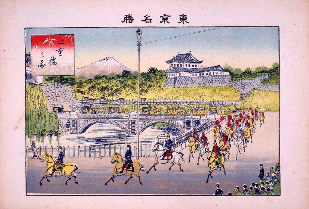 作品画像:東京名勝 二重橋之図