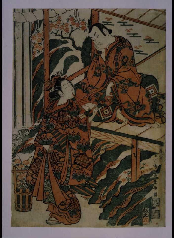 作品画像:市川海老蔵の鳴神上人と尾上菊五郎の雲の絶間姫