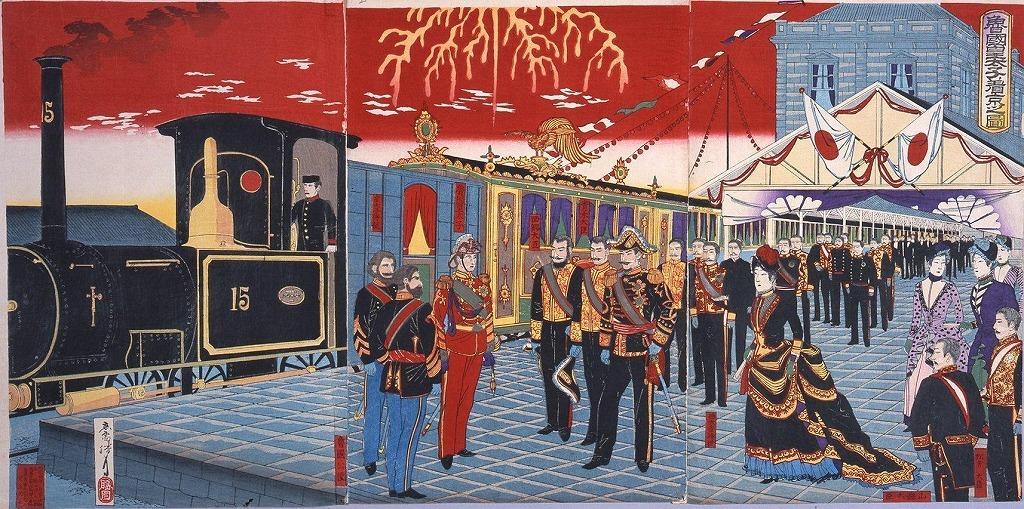 作品画像:魯国皇太子着京之図
