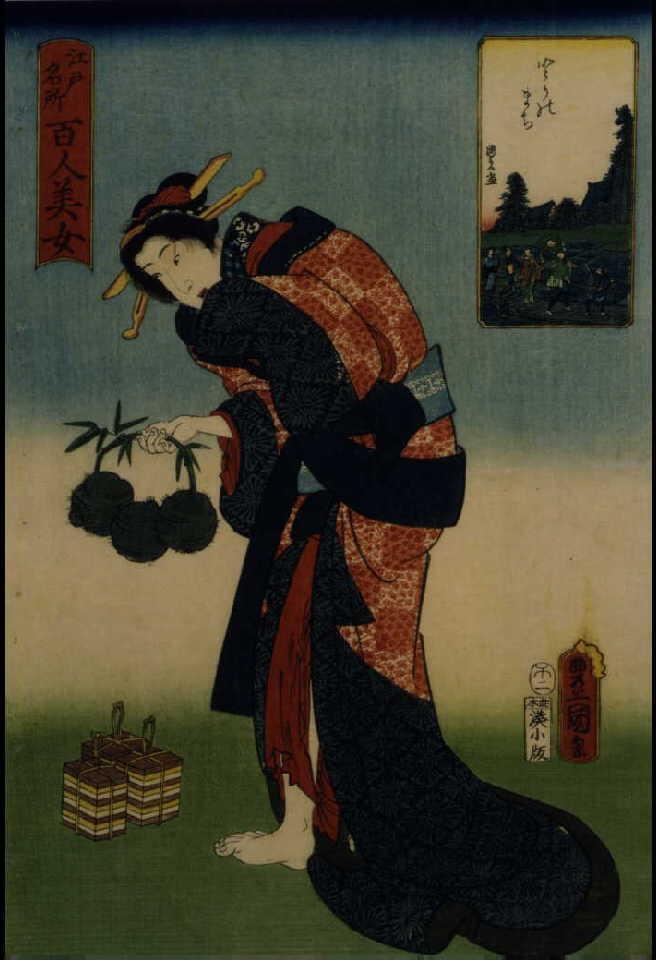 作品画像:江戸名所百人美女 とりのまち