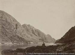 作品画像:アイスバーグ・キャニオン、コロラド川、見上げて