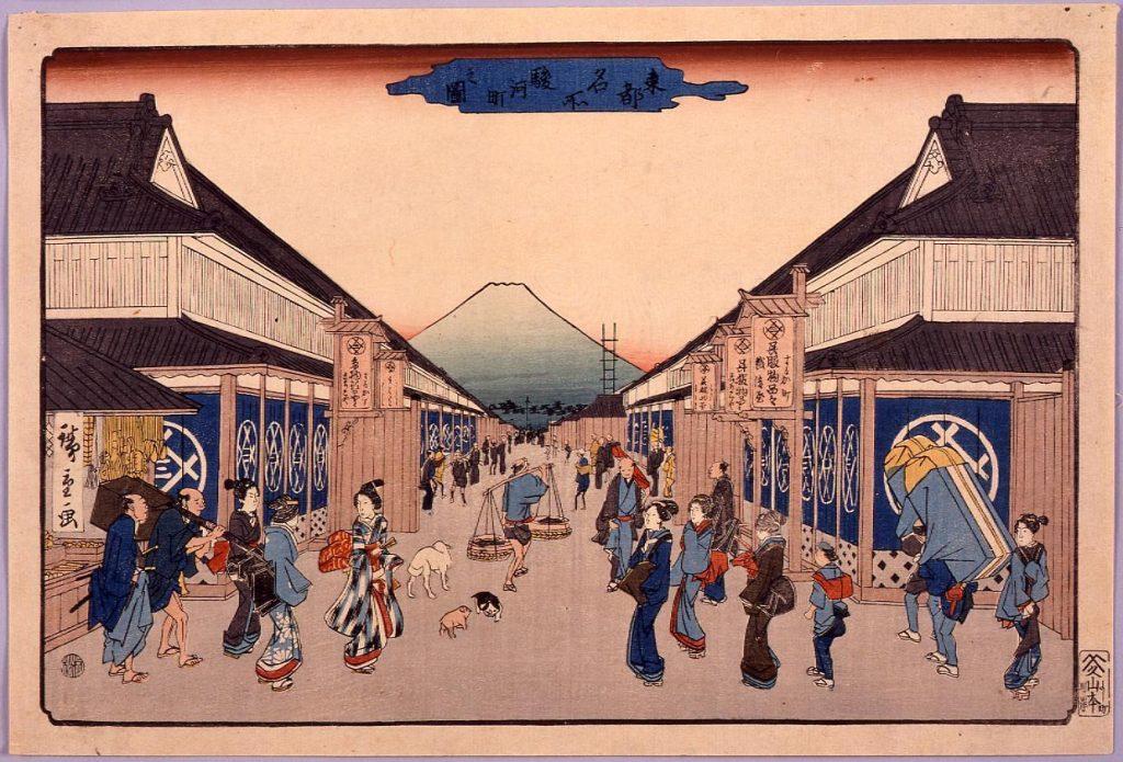作品画像:東都名所駿河町之図