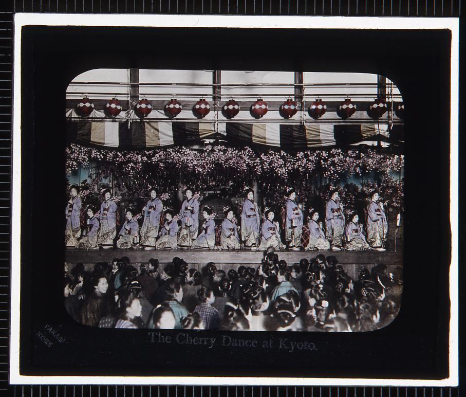 作品画像:京都 桜踊り(幻灯原板)