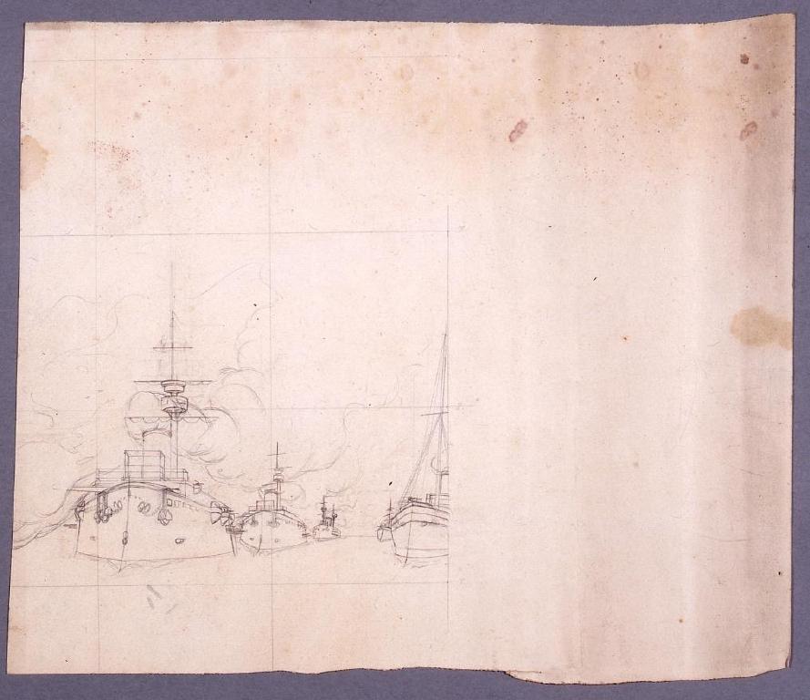 作品画像:下絵 艦隊図