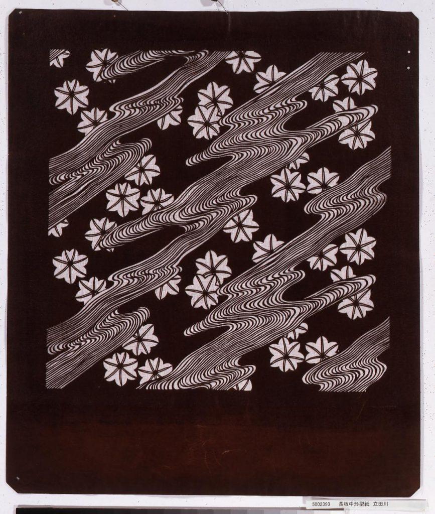 長板中形型紙 立田川