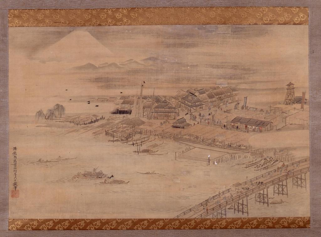 作品画像:両国橋西詰図