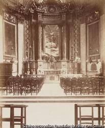 作品画像:サン・シュルピス教会内のセルヴァンドーニによる聖母礼拝堂とヴァンルーの絵画