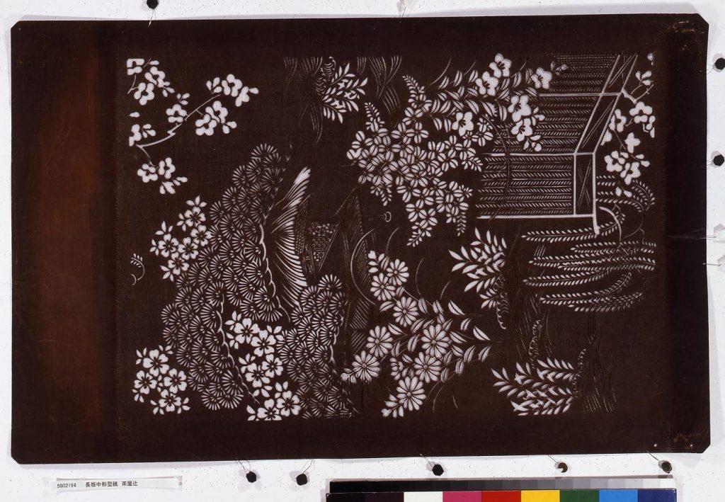 作品画像:長板中形型紙 茶屋辻