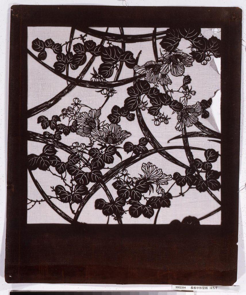 作品画像:長板中形型紙 はちす