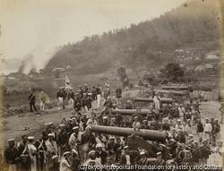 作品画像:アレクサンダー大佐による砲台の大砲の解体