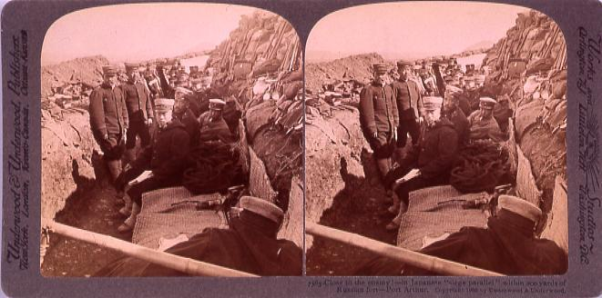 """作品画像:Close to the enemy!―in Japanese """"siege parallel within 200yards of Russian fort PortArthur."""