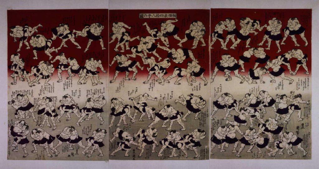 作品画像:相撲表四十八手図