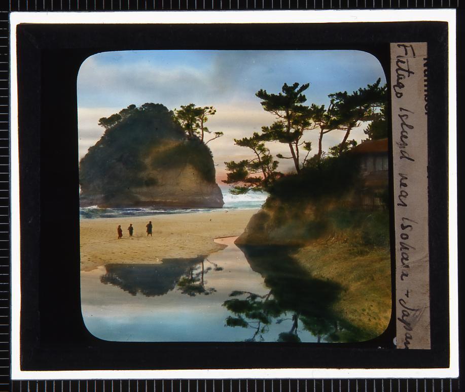 作品画像:和歌山 松島双子島(幻燈原板)