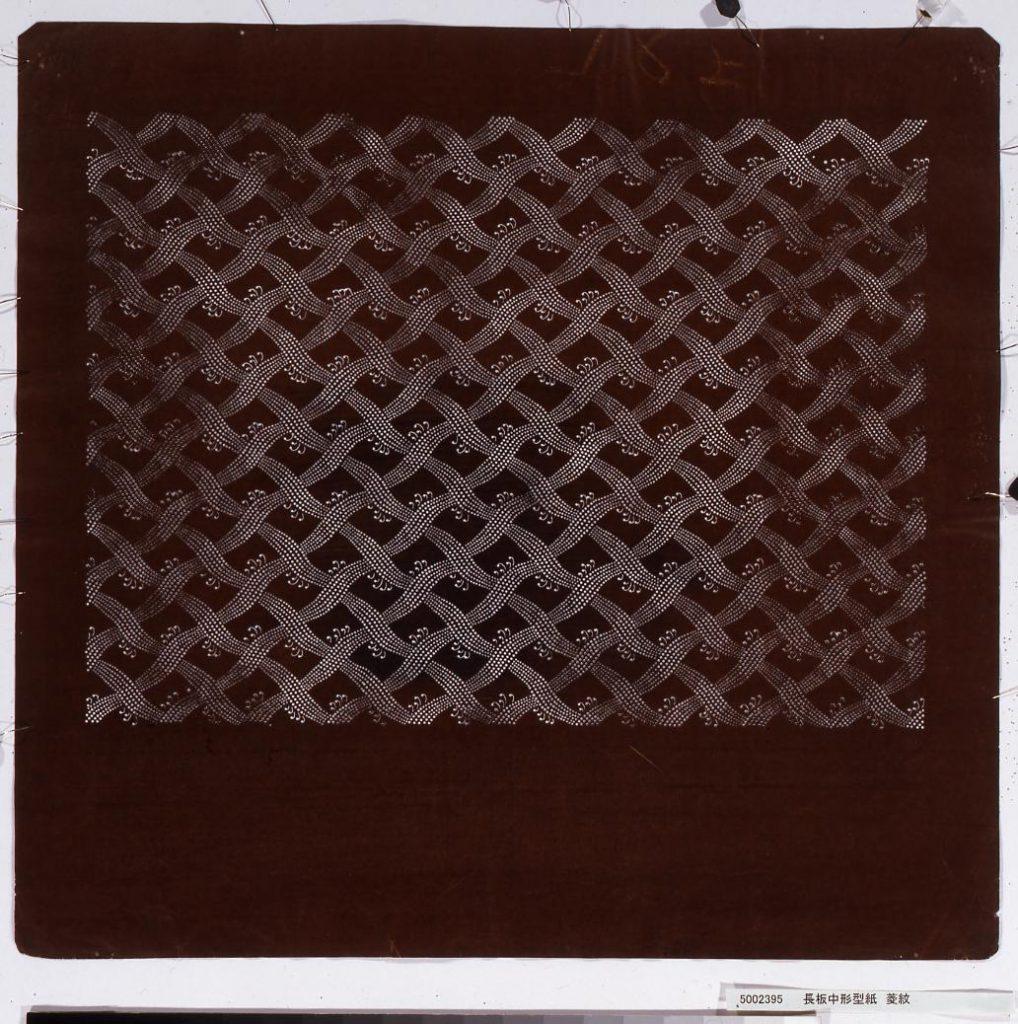 作品画像:長板中形型紙 菱紋