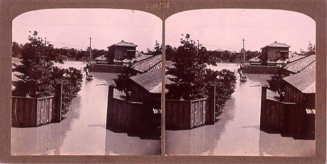 作品画像:東京洪水(明治40年8月)(No.26)