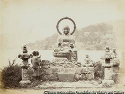 作品画像:芦ノ湖畔の延命地蔵