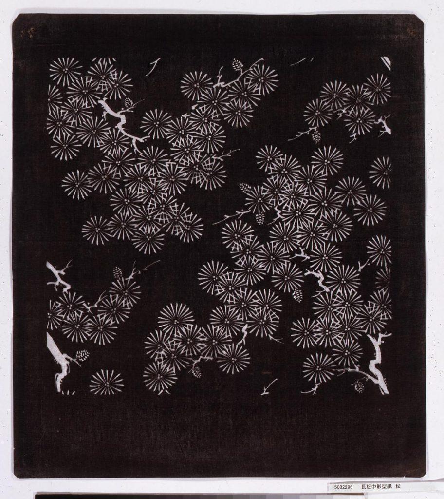 作品画像:長板中形型紙 松