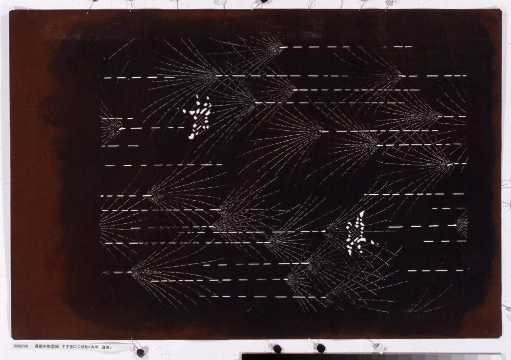 作品画像:長板中形型紙 すすきにつばめ(大判 追掛)