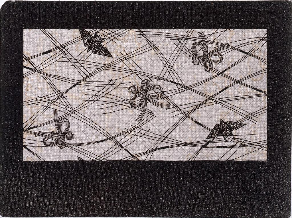作品画像:長板中形型紙 のし
