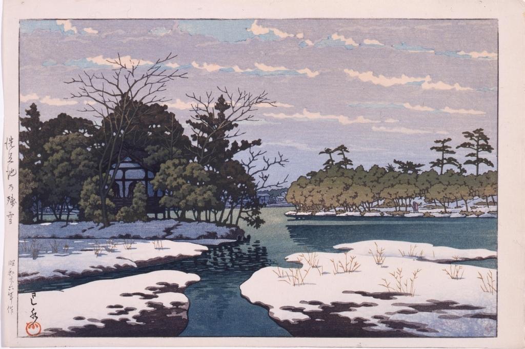 作品画像:洗足池の残雪