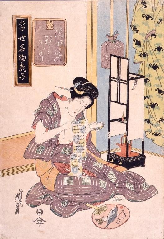 作品画像:当世名物鹿子 隅田川堤のむしの音