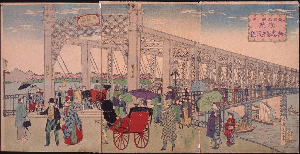 作品画像:東京名所之内 浅草吾妻橋之図