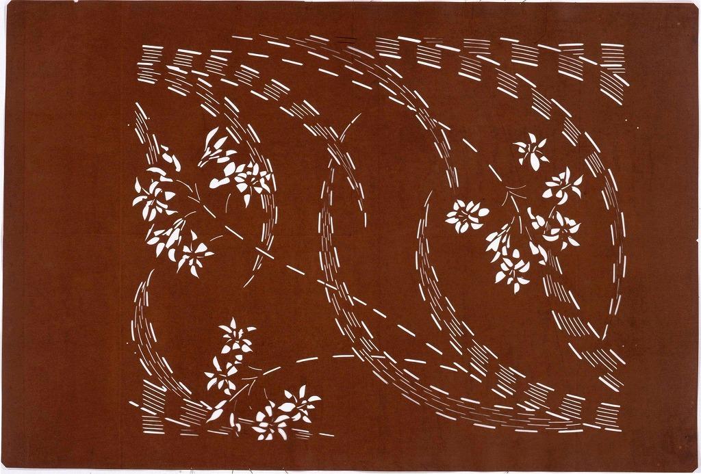 作品画像:長板中形型紙 蘭(大判 追掛)