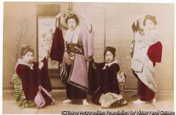 作品画像:(四人の踊る女性)