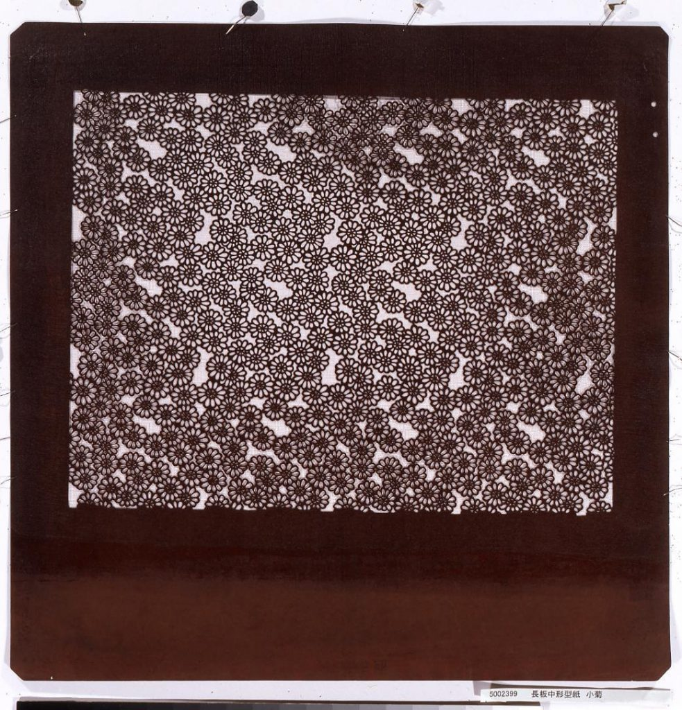 長板中形型紙 小菊