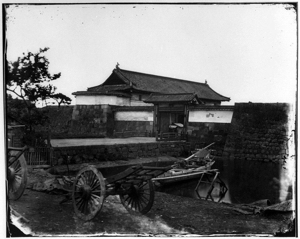 旧江戸城写真ガラス原板 数寄屋橋門