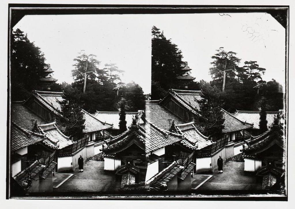 作品画像:信貴山寺 毘沙門堂舞台遠景