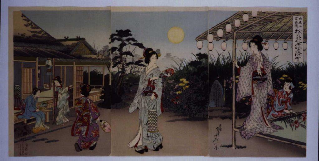 作品画像:向しま百花園秋乃花露の染分