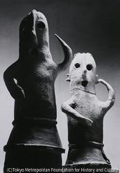 作品画像:埴輪 踊る人